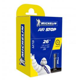 Chambre à air VTT MICHELIN 26 pouces de 1.5 à 2.5 valve schrader