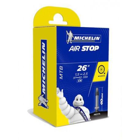 Chambre à air VTT MICHELIN 26 pouces de 1.9 à 2.5 valve presta
