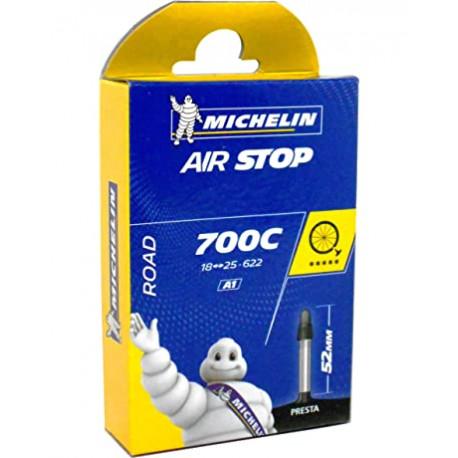 Chambre à air route MICHELIN 700 de 18 à 25 valve presta 25mm